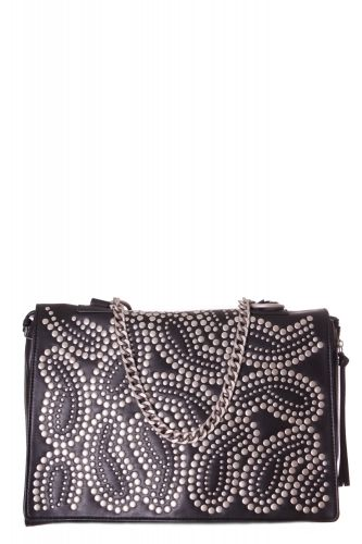 "BORSA SHOPPING GRANDE ARABESQUE IN ECOPELLE DECORATA CON BORCHIE ""LA CARRIE BAG"""